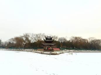 北京陶然亭公园雪景