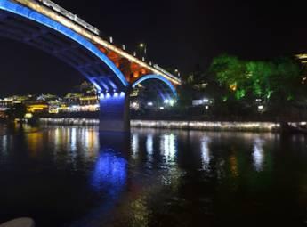湖南凤凰古镇夜景