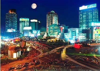 不眠不休的上海 徐家汇夜晚视频动景