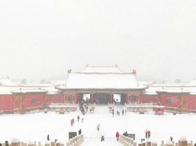 北京故宫雪景