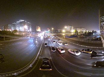 东单银街桥夜景
