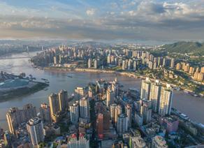 重庆渝中半岛全景