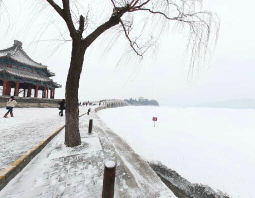 北京颐和园雪景