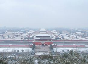 北京景山公园雪景